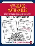 Factors vs. Multiples - 4th Grade Math Skill of the Week #3