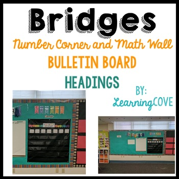 Bridges Mathematics Math Wall! Number Corner Calendar and headings!