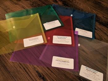 Bridges Mathematics Workplace Labels for Plastic Envelopes! 2nd Grade