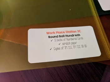 Bridges Mathematics Workplace Labels for Plastic Envelopes! 4th Grade