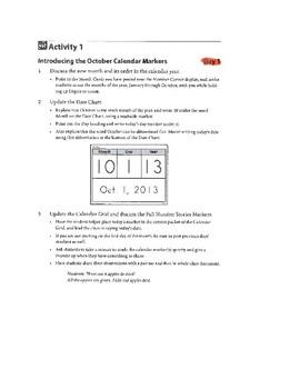 Bridges October Number Corner 1st Grade Teacher Guide Made Easy!