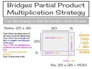 Bridges - Partial Products Poster