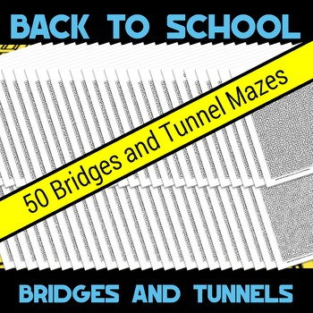 Back to School Bridges and Tunnels Amazing Mazes