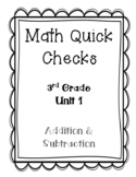 3rd Grade Quick Checks for use with Bridges in Mathematics Unit 1