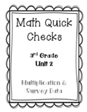 3rd Grade Quick Checks for use with Bridges in Mathematics Unit 2