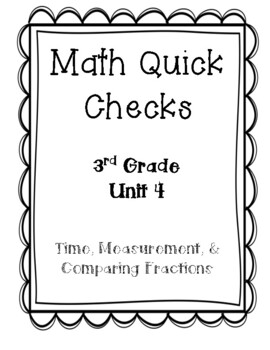 3rd Grade Quick Checks for use with Bridges in Mathematics Unit 4