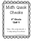 3rd Grade Quick Checks for use with Bridges in Mathematics Unit 4