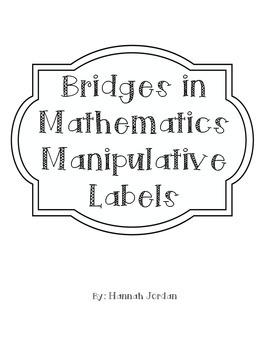 Bridges in Mathematics Manipulative Labels
