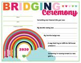 """Bridging """"What I did this year"""" keepsake certificate Girl"""