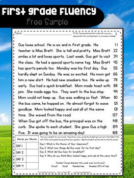 First Grade Fluency: Bridging the Gap {THE YEAR LONG BUNDLE}