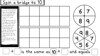 Bridging through 10 Addition Games