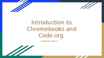 Brief Chromebook Introduction and Code.org Login Information