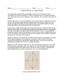 Brief History of Trigonometry