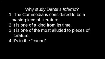 Brief Introduction to Dante's Inferno