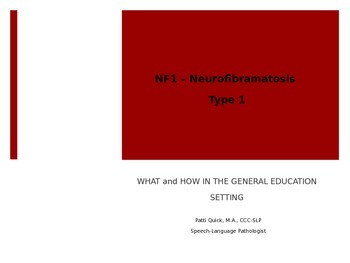 Brief Power Point on Neurofibromatosis Type 1