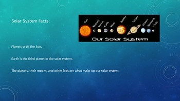 Brief Powerpoint Overviewing the Solar System