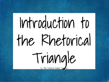 Brief Rhetoric PowerPoint & Notetaking Guide