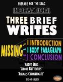 SBAC 3 Brief Writes: BUNDLE I - 3rd-5th PDF & ONLINE Dista