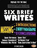 SBAC Brief Write: BUNDLES I & II-6 BRIEF WRITES~3rd-5th~ P