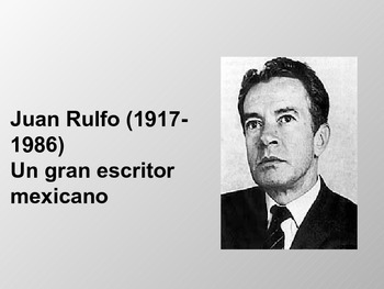Brief background information for Juan Rulfo