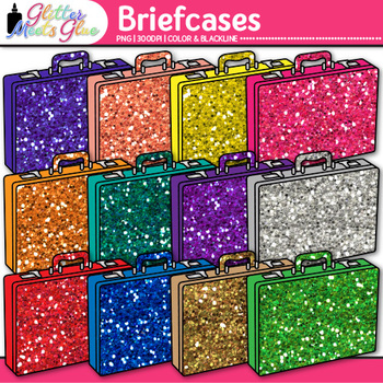 Briefcase Clip Art {Vacation and Business Graphics for Transportation Use}