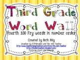 Bright 3rd Grade Word Wall {Fry}