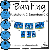 Bright Aboriginal Alphabet and numbers 0-9 Bunting - Foundation font