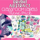 BRIGHT ABSTRACT Editable Name Tags, Labels, Posters & Door Display