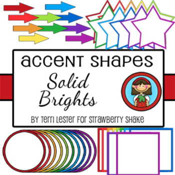 Bright Accents Coordinating Shapes for Personal and Commercial Use