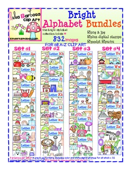 Bright Alphabet Bundle Set #3  includes Letters O-U