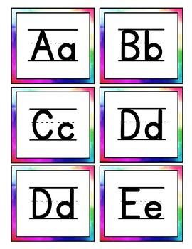 Bright Alphabet Cards