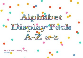 Bright Alphabet Display Pack