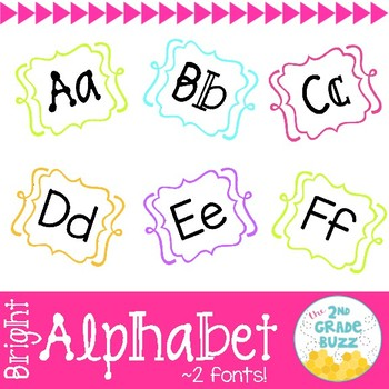 Bright Alphabet Posters - 2 fonts