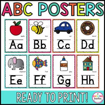 Bright Alphabet Posters