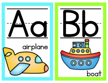 Bright Alphabet Posters- English