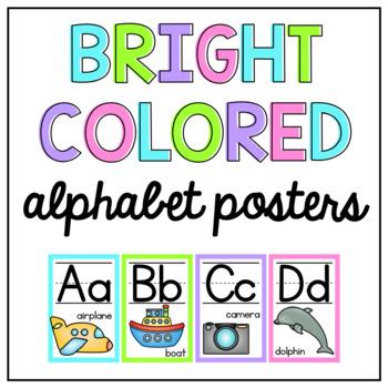 Bright Alphabet Posters- English