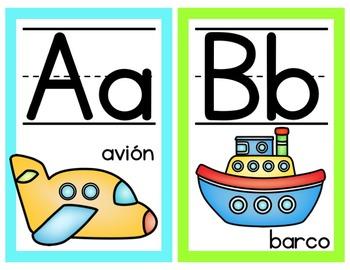 Bright Alphabet Posters- Spanish