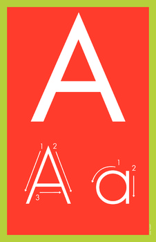 Bright Alphabet Posters and Flashcards