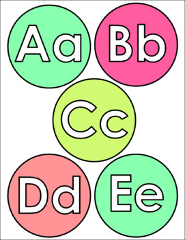 Bright Alphabet Posters *with word wall letters