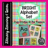 Bright Alphabet Set--Letter Literacy Activities