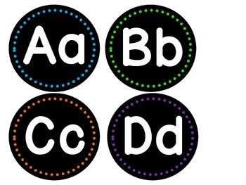 Bright Alphabet Word Wall Headers
