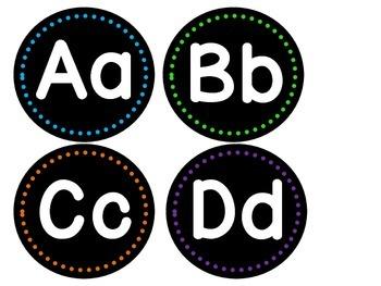 Bright Alphabet Word Wall Headers