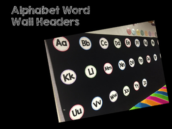 Bright Alphabet Word Wall Letters