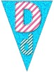 Bright Alphabet and Numbers 1-10 Pennant Banner