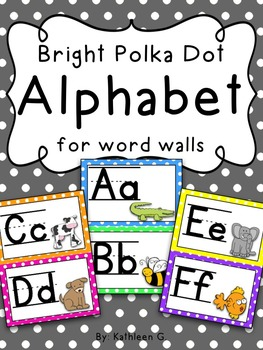 Bright Alphabet for the Word Wall
