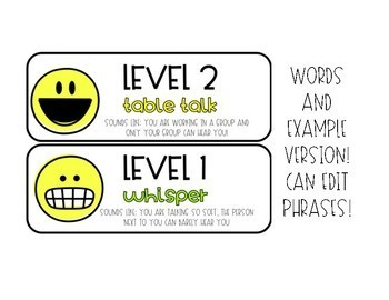 Bright And Smiley Voice Level Posters (Editable!!)