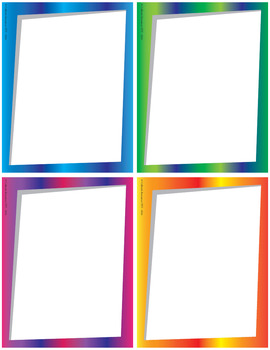 Bright Angled Frames/Borders (Full Page/Half Page/Quarter Page/Eighth Page)