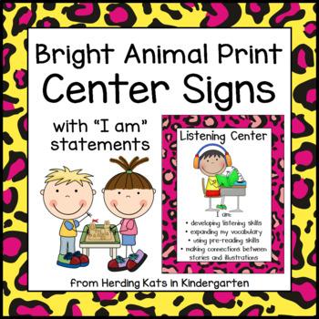 Bright Animal Print Center Signs