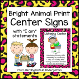 Bright Animal Print Center Signs