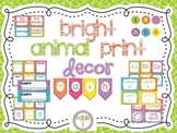 Bright Animal Print Classroom Decor Set